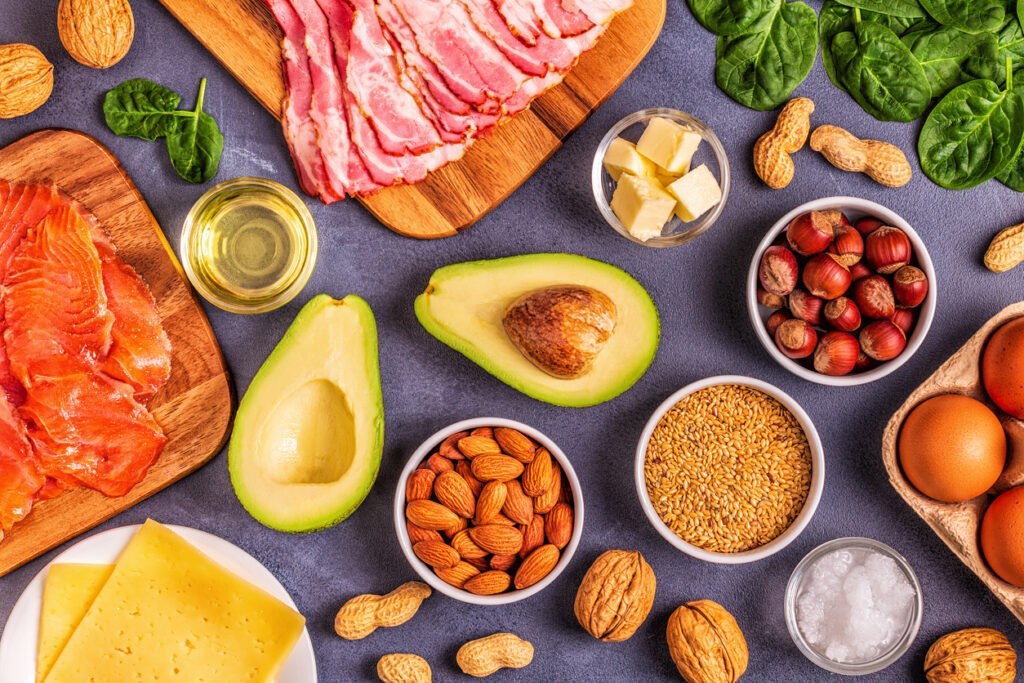 Keto foods are high in fat, low in carbs