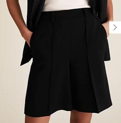 M&S Black Tailored Shorts