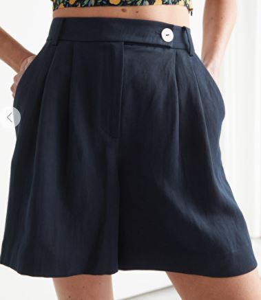 Tencel Lyocell Tailored Shorts