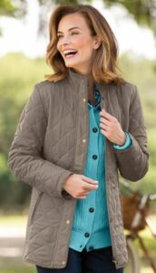 Appleseeds Diamond Quilted Jacket-min