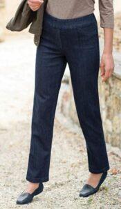 Appleseed's Slimsation® Straight-Leg Pull-On Jeans