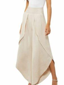 BCBGMAXAZRIA Women's Flowy Layered Pants