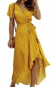 Bohemian Wrap V Neck Dress
