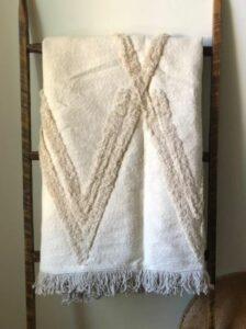 Cream Beni Ourain Throw Blanket