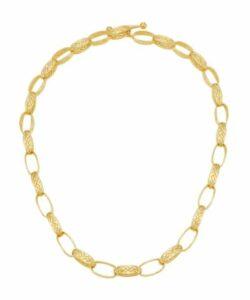 Dean Davidson Bali Weave 22K Goldplated Link Necklace