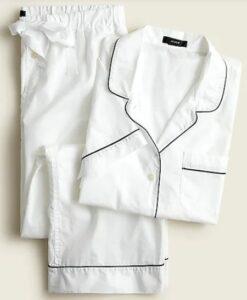 JCREW Cotton Long Sleeve Pajama Set