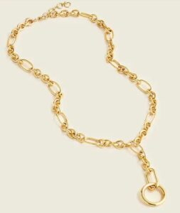 JCREW Mixed link lariat chain necklace