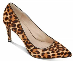 Kenneth Cole Riley Animal-Print Calf Hair Pointed-Toe Pumps