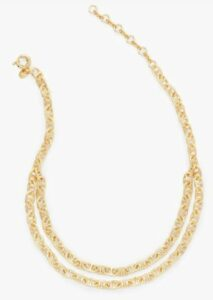 Talbots Double Chain Necklace