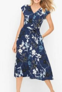 Talbots Graphic Floral Dress