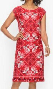 Talbots Intricate Bandana Dress