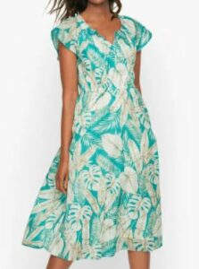 Talbots Stretched Leaves Dress
