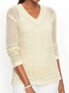 Talbots Weave V Neck Sweater