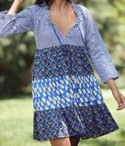 Tiered Cover-Up Tunic Dress