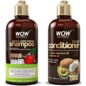 WOW Skin Science Apple Cider Vinegar Shampoo And Coconut/Avocado Oil Conditioner Pack