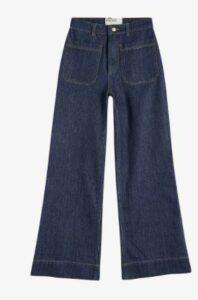 Yeataa flared high-rise cotton denim jeans