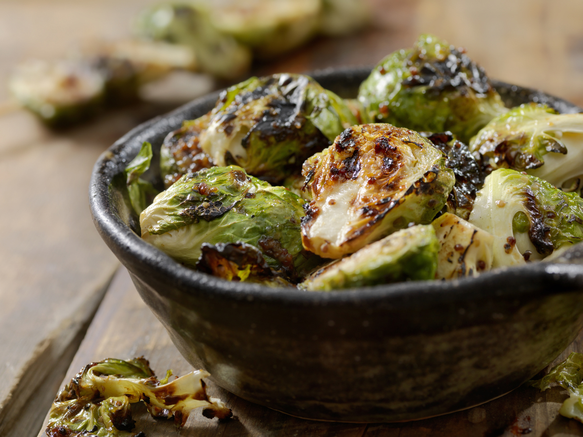Bowl of Brussels Sprouts to get amino acids
