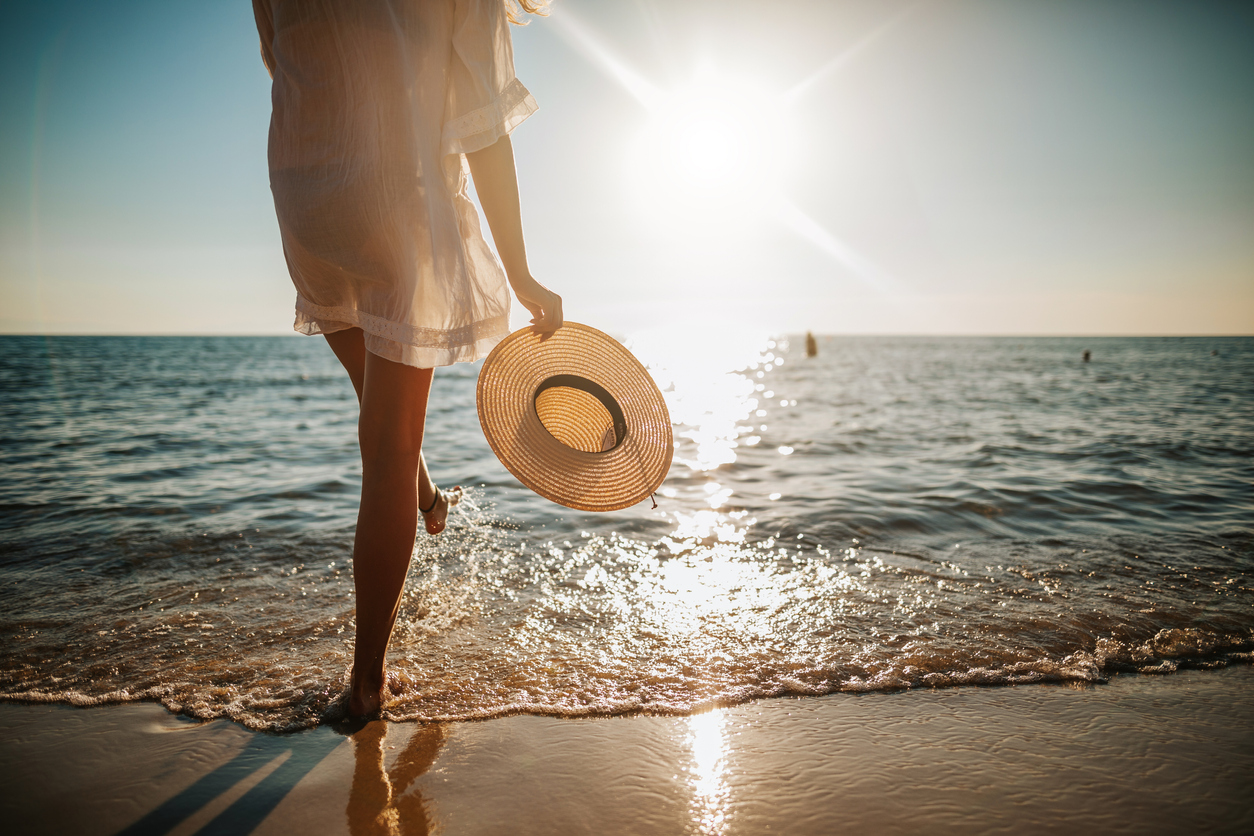 Sunshine has vitamin D, which is important for mood and bone health