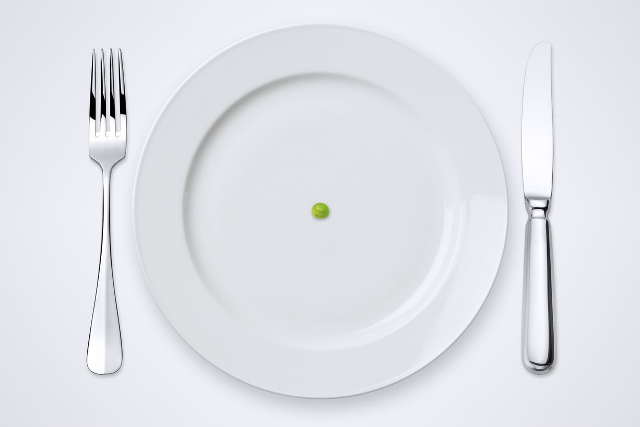 One pea on a plate - weight loss mistake