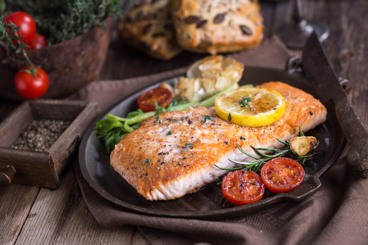 Salmon and veggies are healthy ways to improve health