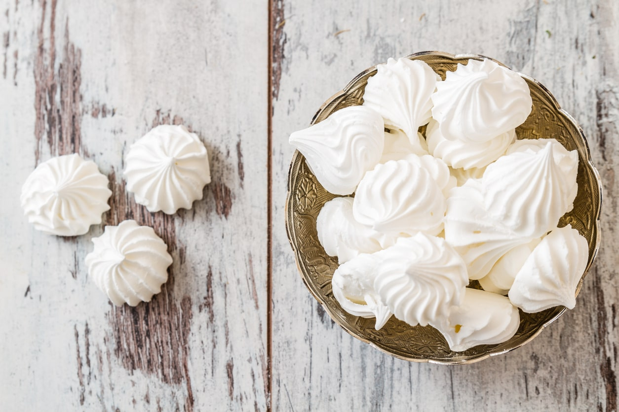 Homemade meringue