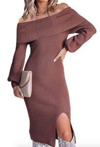 Amazon Cutiefox Off The Shoulder Bodycon Dress