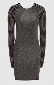 Reiss Marina Metallic Knitted Bodycon Dress