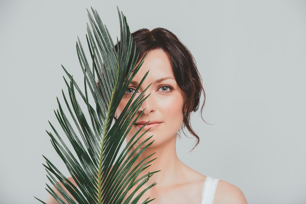 Vegan Skincare - woman with beautiful clear skin