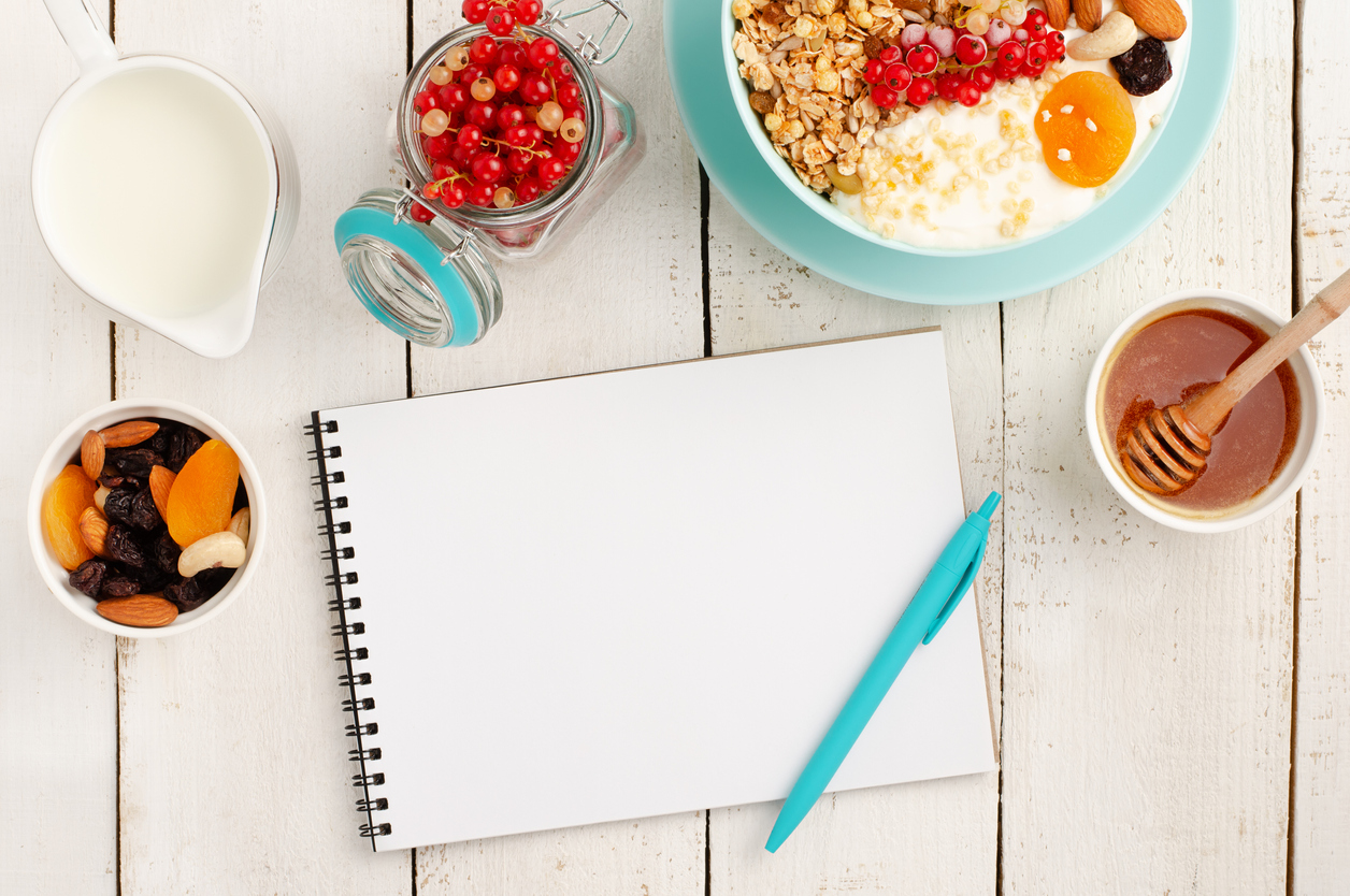 Food diary or food journal when diet