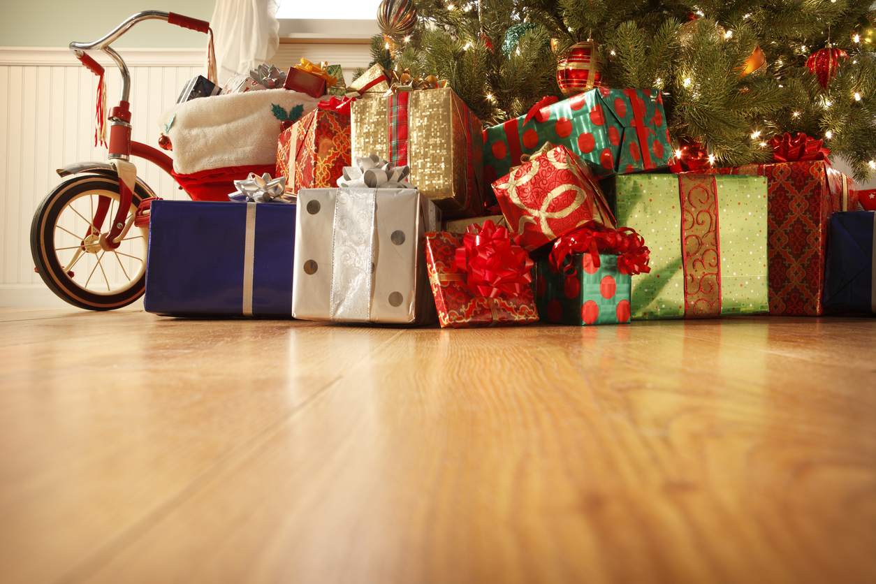 Gifts for kids presents under the tree