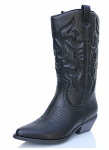 Western Stitched Boots Pointy Toe Knee High Reno-S